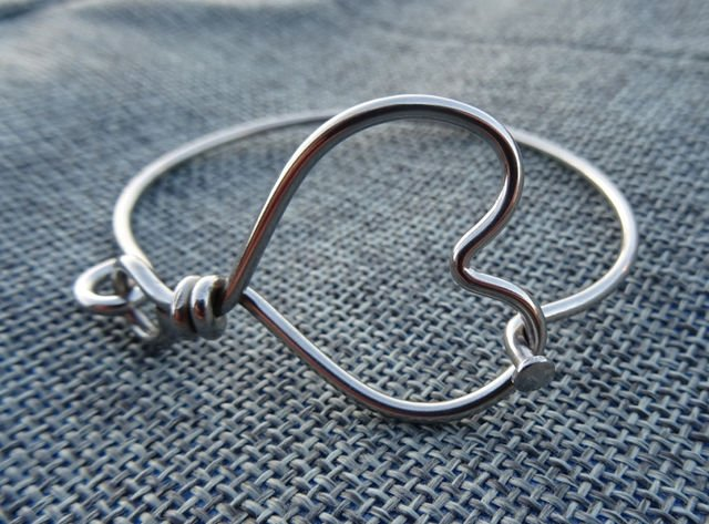 Large Heart Bracelet Hinged