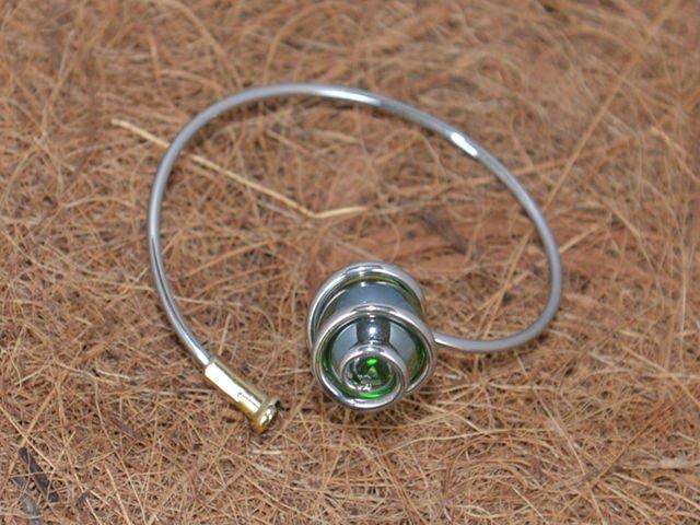 Marble Bracelet Green Swirl