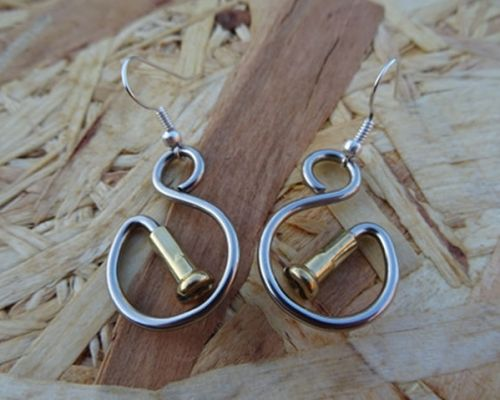 S for Spoke Earrings