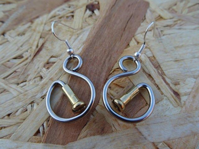 S for Spoke Earrings