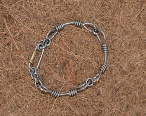 Steel Rope Polished Bracelet