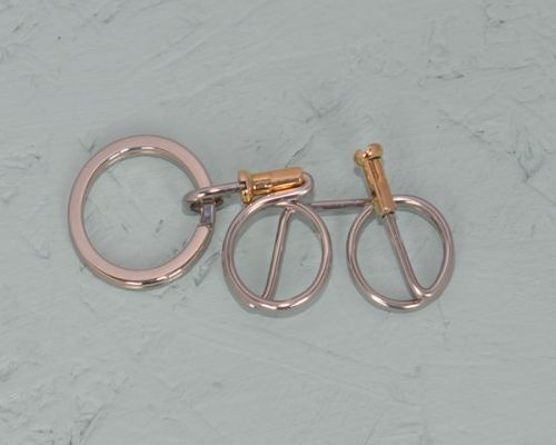 Wheeling Free Keyring Polished
