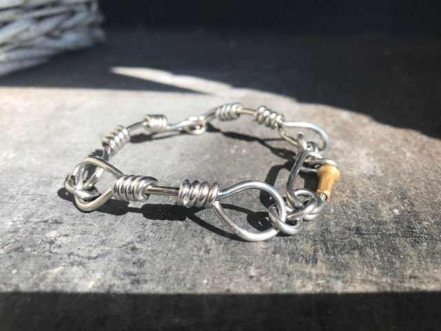 Steel Rope Bracelet with Carabiner Clasp