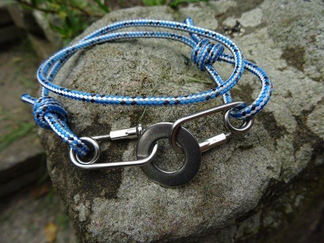 Blue Rope Carabiner Bracelet Washer