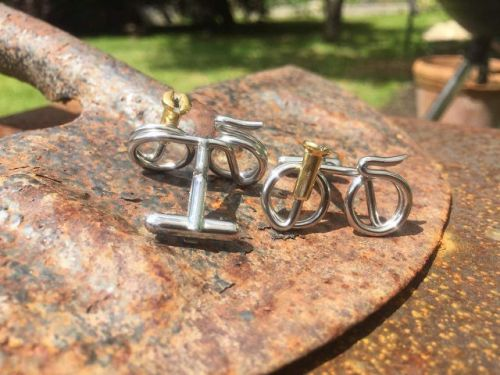 Back of bike cufflinks or cufflink fastener