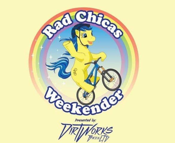 Dirtworks Bikes Malvern unicorn logo weekend with Respoke Designs