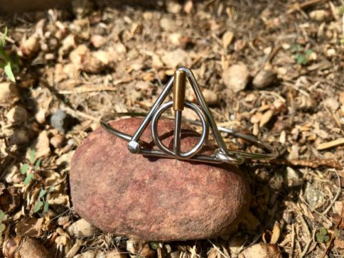 Hinged Deathly hallows bracelet symbol