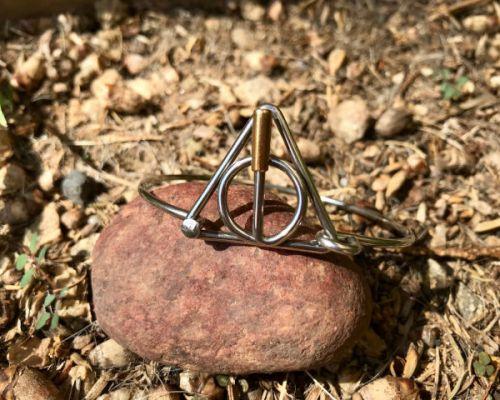 Hinged Deathly hallows bracelet symbol