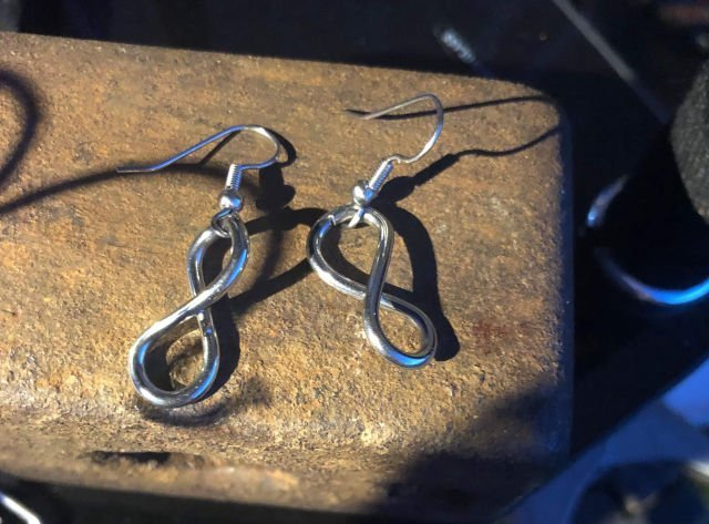 small infinity earrings